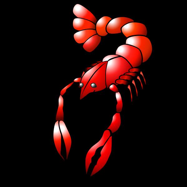 Red crawfish vector graphics