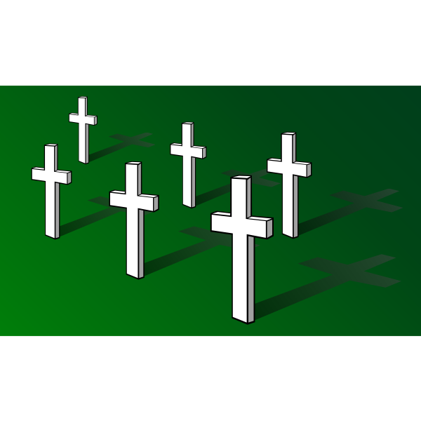 Crosses on field vector image