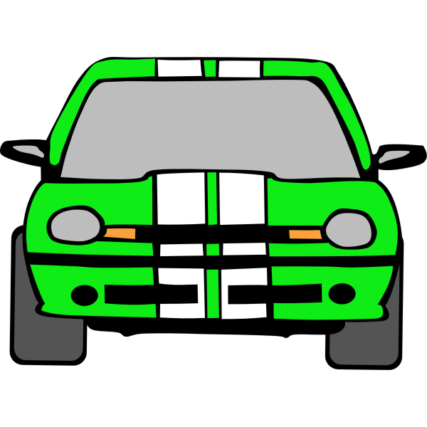 Passenger car vector image