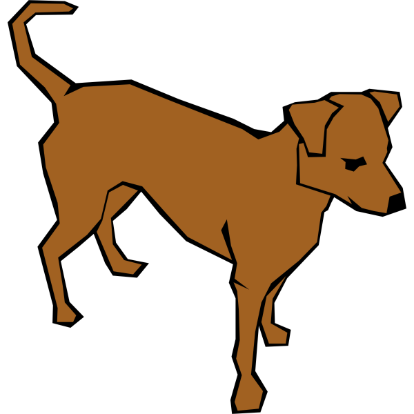 Brown dog vector illustration