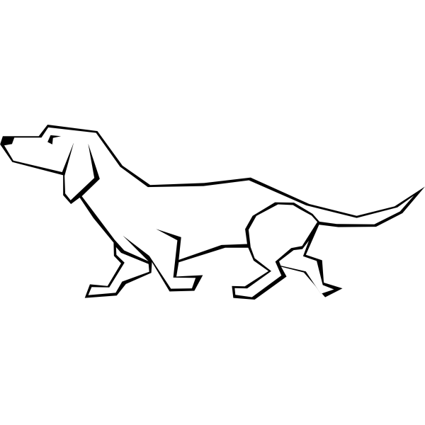 Simple vector drawing of a dog
