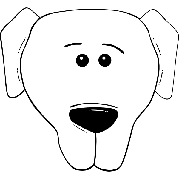Vector illustration of dog face