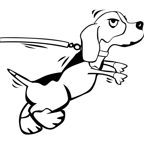 Dog on leash vector image
