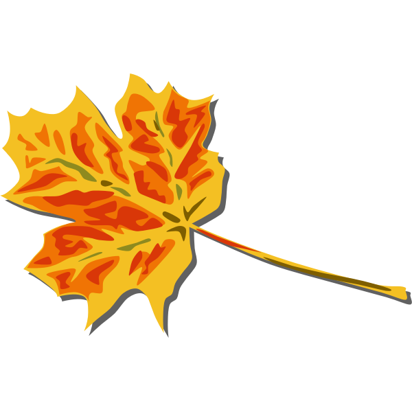 Fall leaf vector clip art