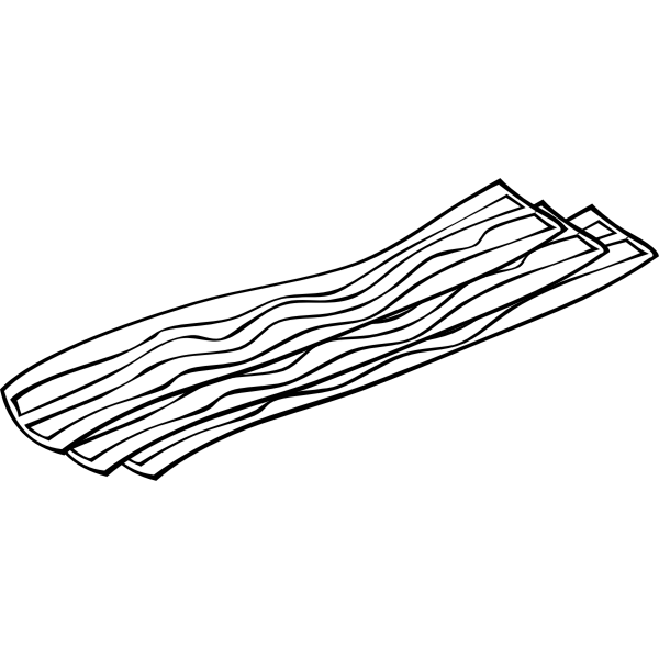 Vector drawing of bacon