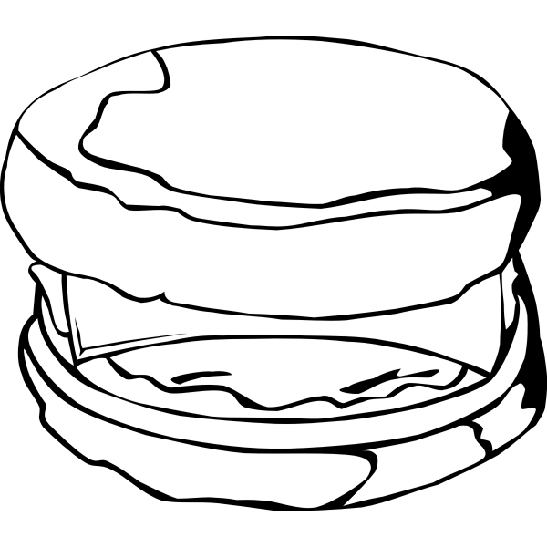 Vector image of McMuffin