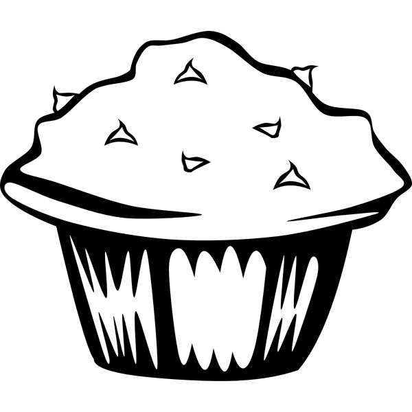 Chocolate muffin vector illustration