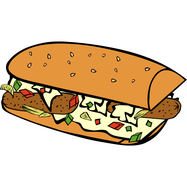 Vector image of submarine sandwich