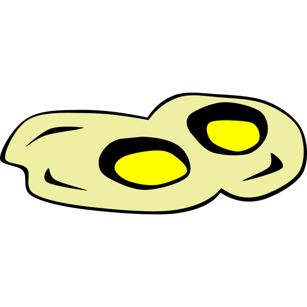 Vector graphics of fried eggs