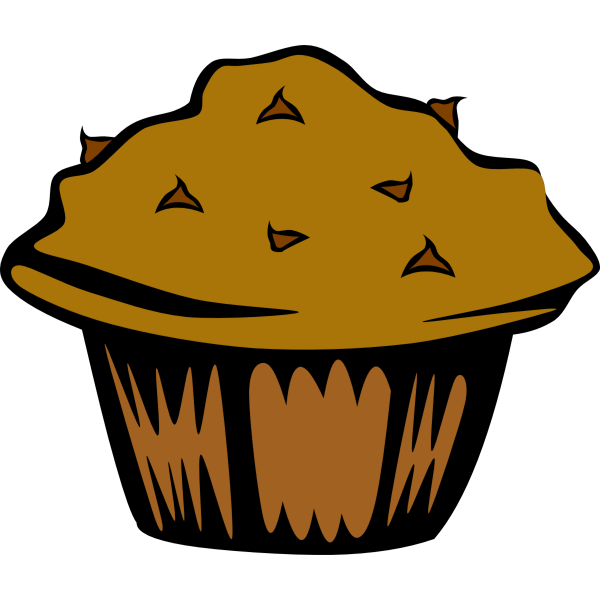 Vector image of chocolate muffin