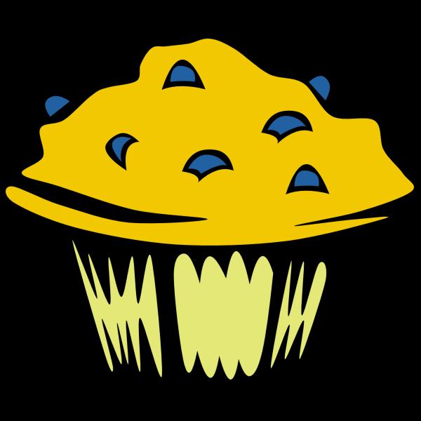 Blueberry muffin vector clip art