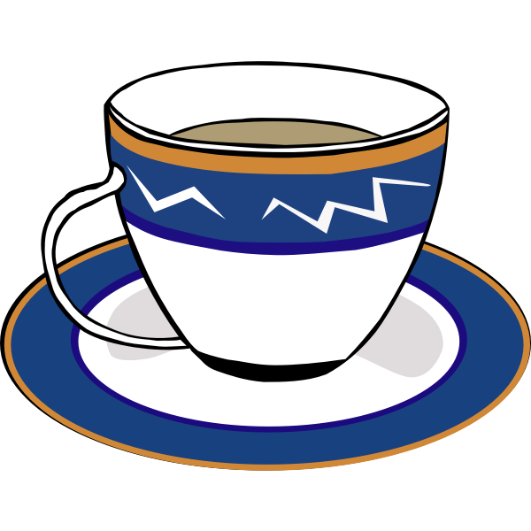 Tea cup vector graphics