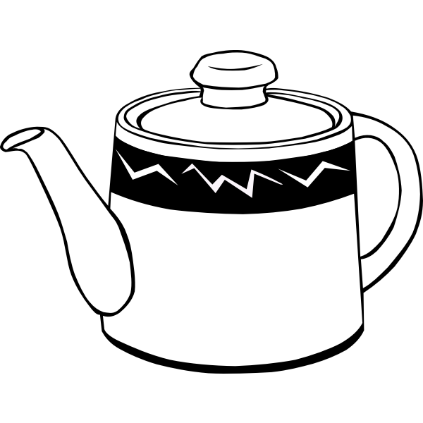 Coffee or tea pot vector