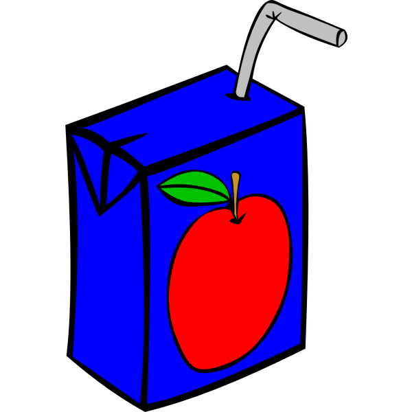 Apple juice box vector