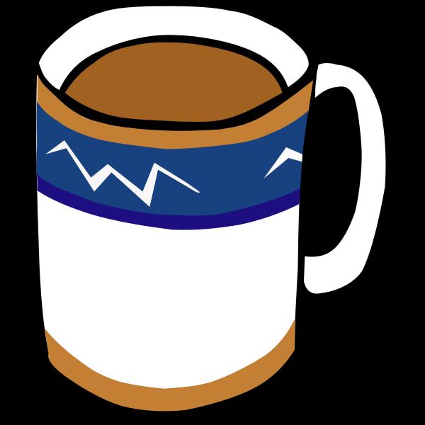 Tea or coffee cup vector