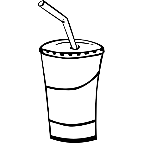Soda drink vector drawing