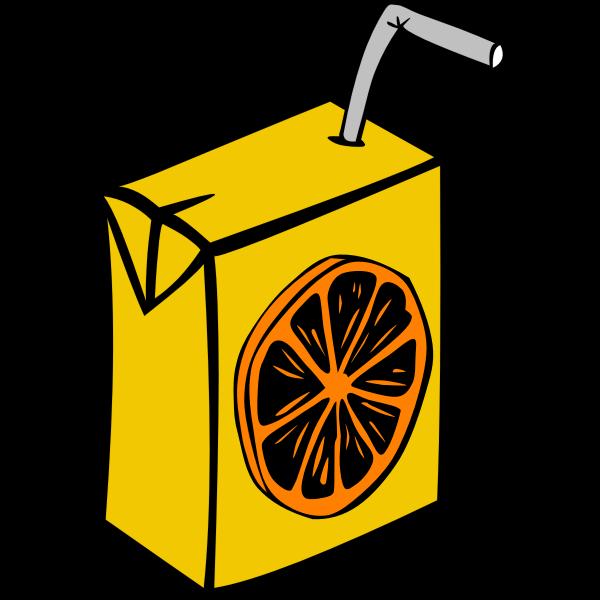 Orange juice box vector