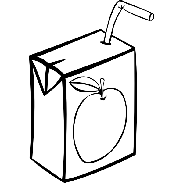 Apple Juice Box Vector Image