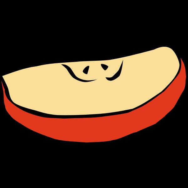 Slice of apple vector clip art