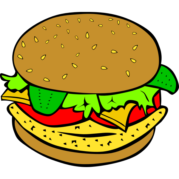 Vector illustration of chicken burger