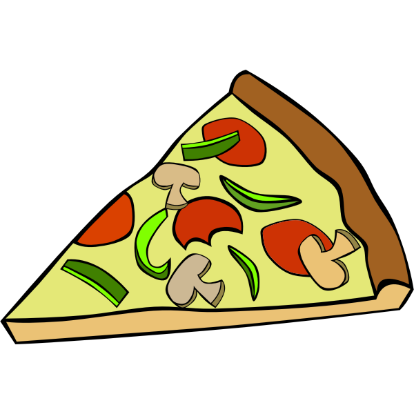 Pepperoni pizza vector clip art