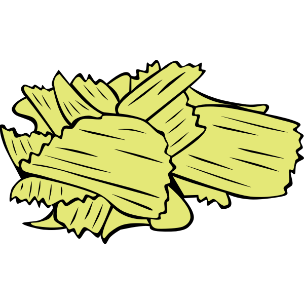 Potato Chips vector drawing