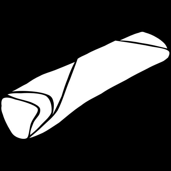 Vector image of burrito