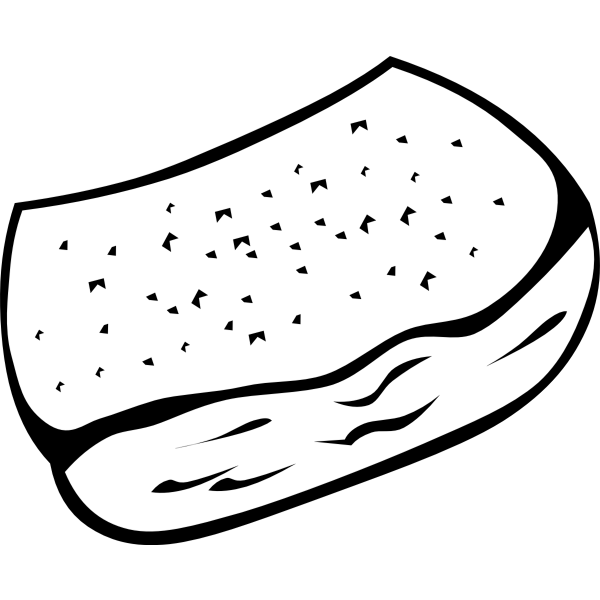 Vector image of a garlic bread