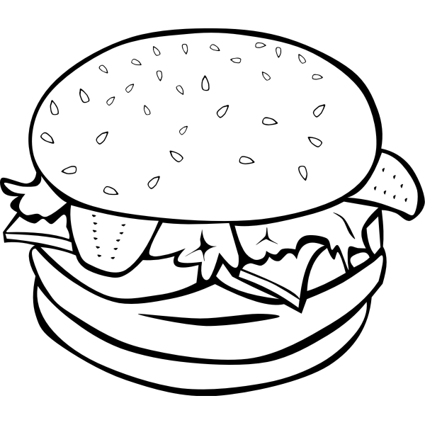 Vector graphics of a burger