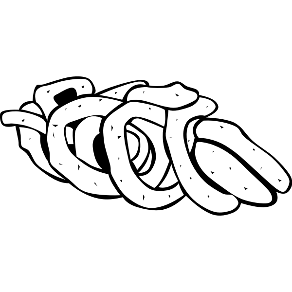 Vector image of onion rings