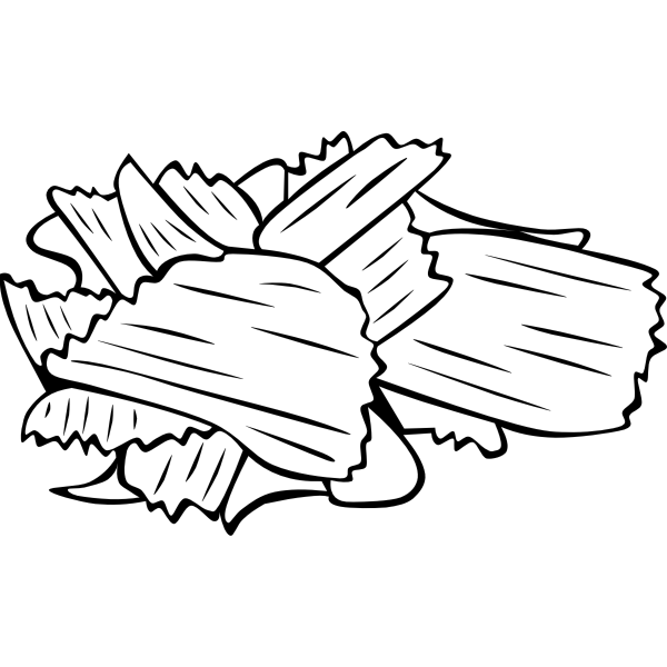 Vector image of potato chips