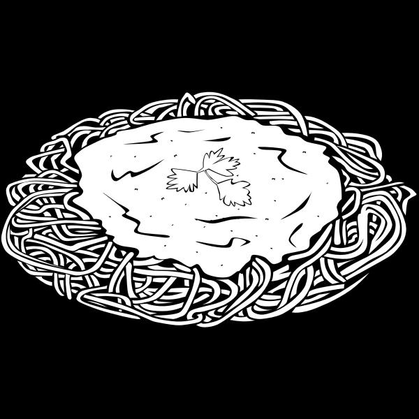 Vector clip art of spaghetti