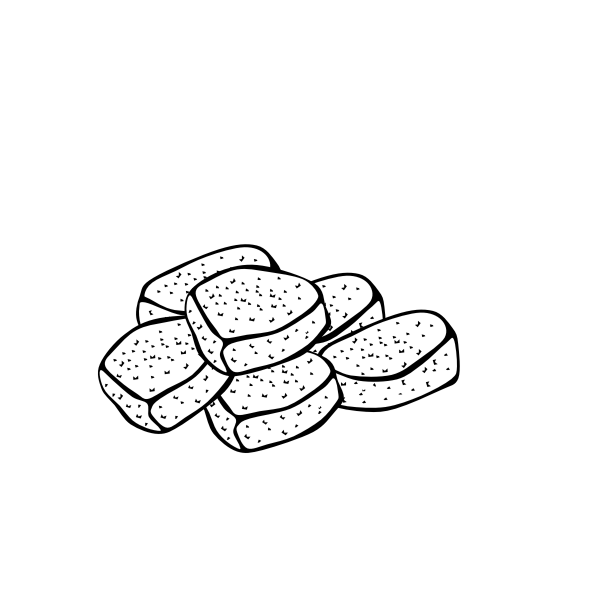 Chicken nuggets vector drawing