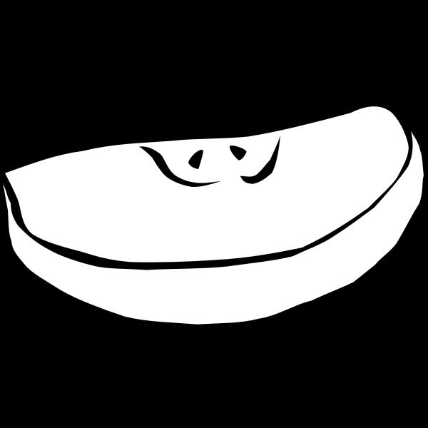 Apple slice vector clip art