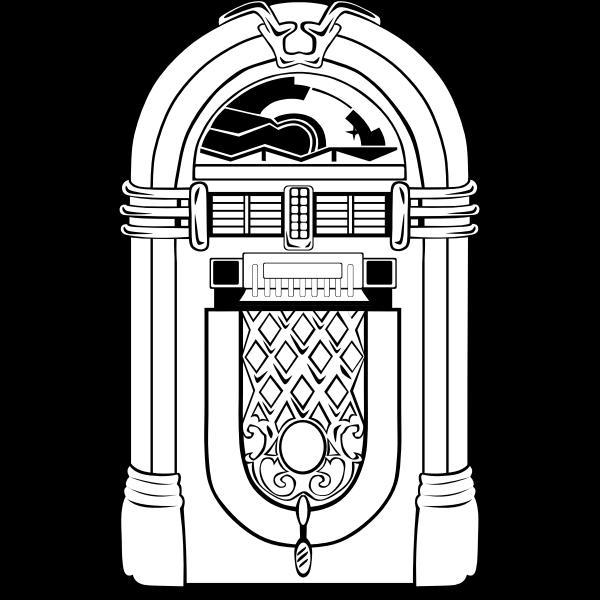 Vector illustration of jukebox