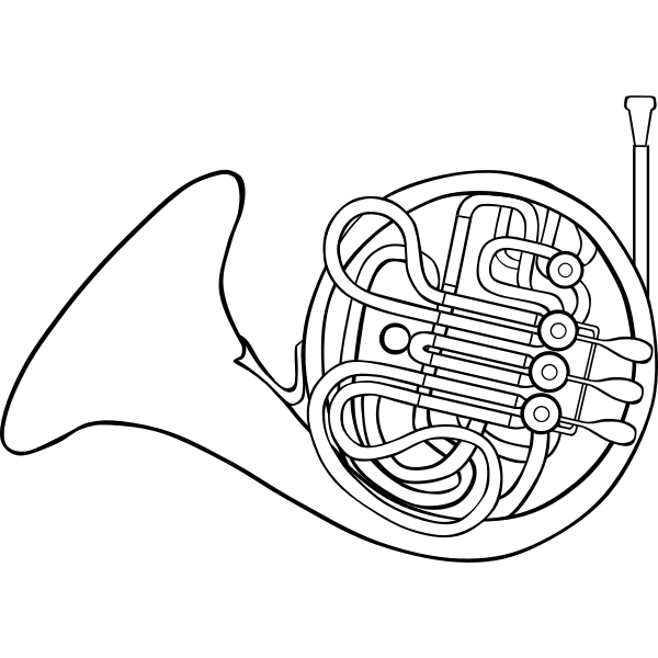 Vector image of French horn