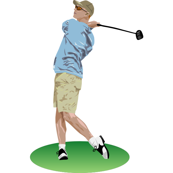Vector image of golf player