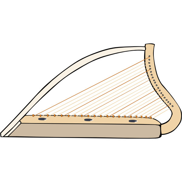 Vector illustration of harp