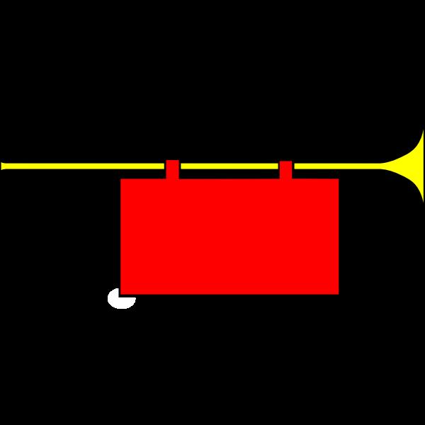 Herald trumpet vector image