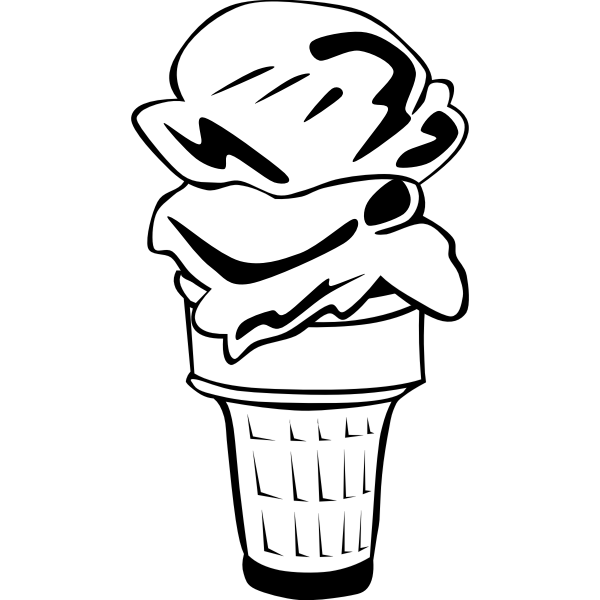 Double cone icecream vector image