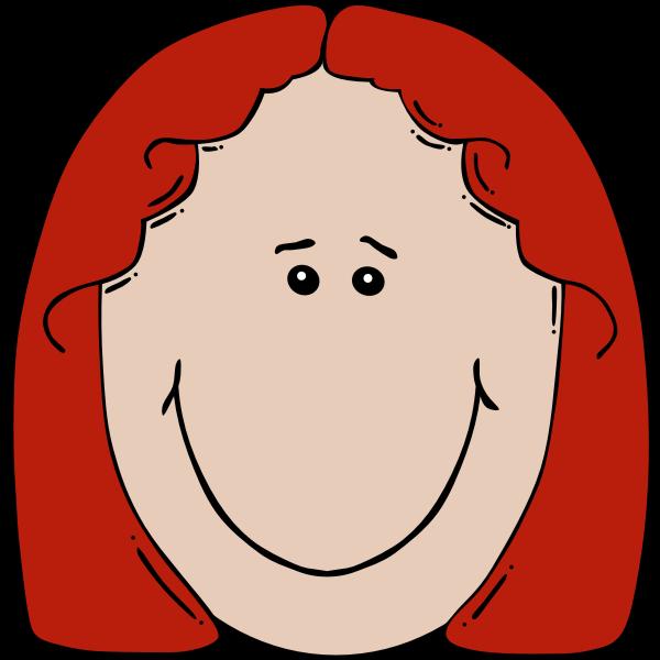 Redhead girl vector image