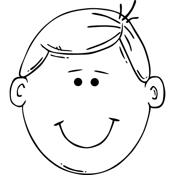 Young boy smiling outline vector image