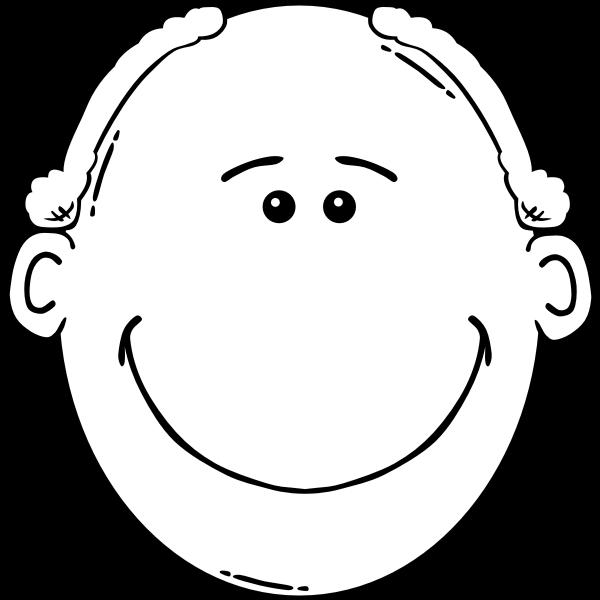 Balding man smiling outline vector image
