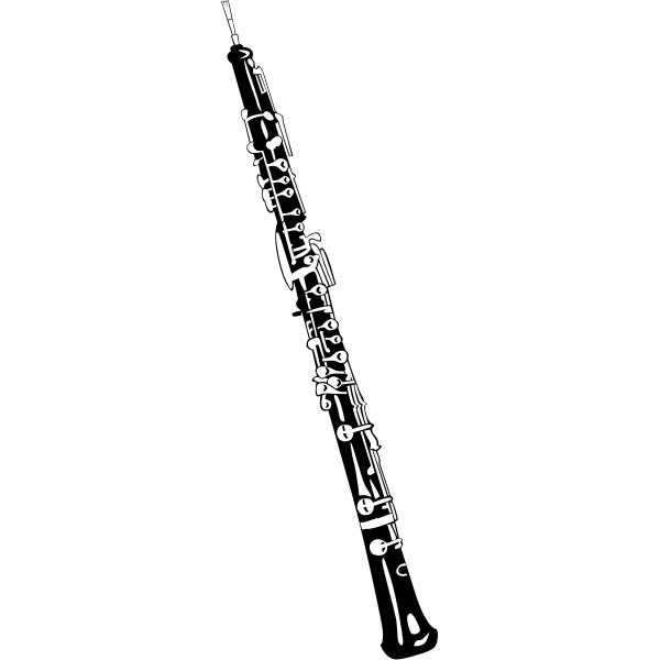 Vector illustration of oboe