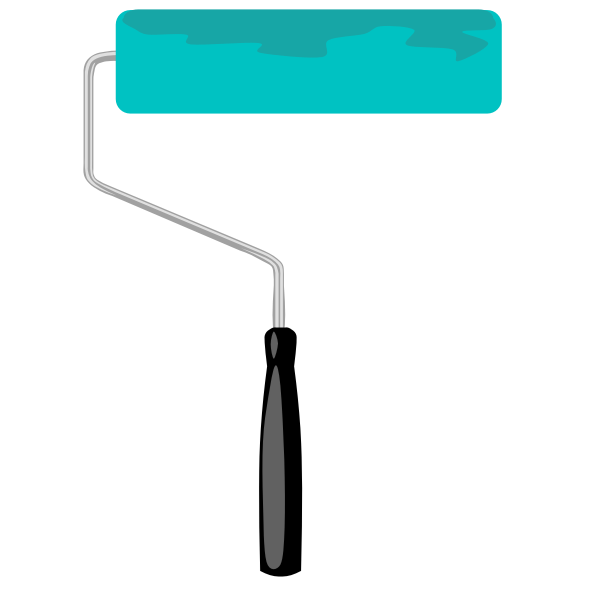 Paint roller vector graphic