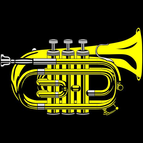 Pocket trumpet vector graphics