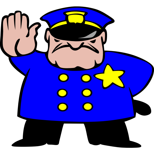 Police man vector drawing