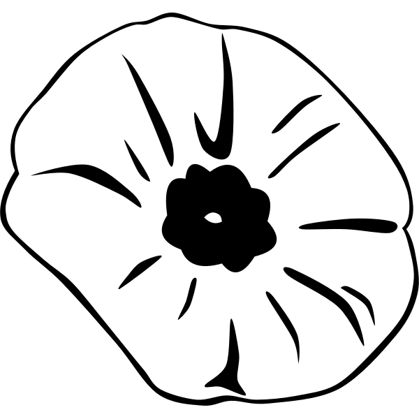 Remembrance Day poppy vector illustration