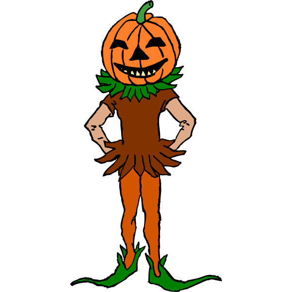 Pumpkin boy vector clip art
