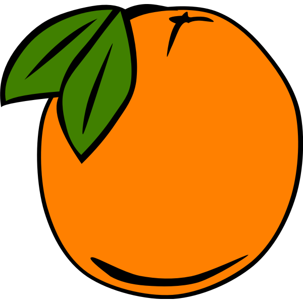 Orange vector graphics